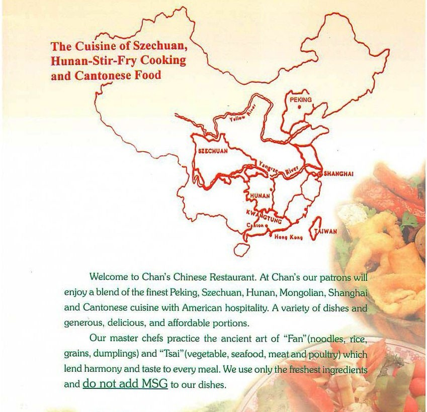 Chan's Chinese restaurant, McMinnville Oregon - About Us